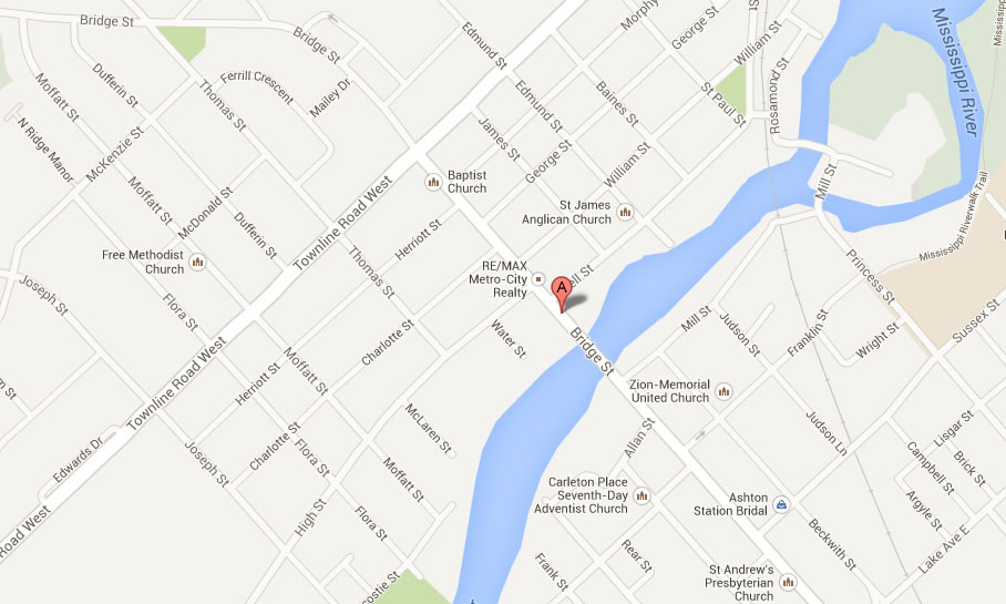 Location map of Carleton Place law office of Carolyn Gerbac